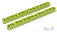 LEGO Technik - 2 x Liftarm / Liftarme 1x13 lime ( hellgrün ) / 41239 NEUWARE