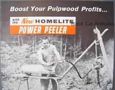 Original 1959 Homelite Pulpwood Log Power Peeler Sales Sheet Model Usa