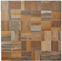 Küchenrückwand selbstklebendes Alu Metall braun Holzoptik 200-2122|10Matten