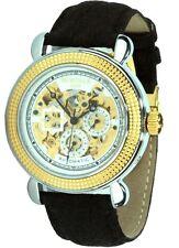 Montale Paris Herren-Automatikuhr Skelettuhr braunes Uhrband Faltschliesse