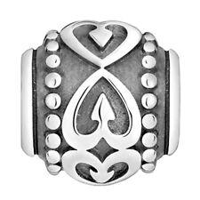 Lovelinks Bead Sterling Silver Hearts Medallions & Dots Charm Jewelry TT301