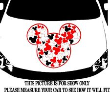 MICKEY MOUSE ICON TRIBAL SWIRLS CAR DECAL GRAPHIC VINYL HOOD OR SIDE