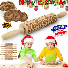 3D Christmas Wooden Rolling Pin for Baking Cookies Pins for Baking Wooden Design