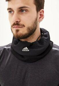 Adidas Climawarm Fleece Neck Warmer Running Black Face Mask OSFM Scarf EE2309