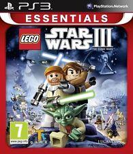 New LEGO Star Wars III The Clone Wars Essentials (PS3, Playstation 3)
