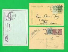 Belgium 2 Cartes & Aerogramme-1912, 1926, 1959. Laeken,Theux, & Bruxelles