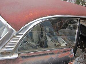 1955 DODGE ROYAL 2 DOOR HT RIGHT REAR QUARTER WINDOW ROOFLINE TRIM MOLDING