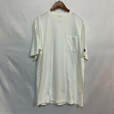 Genuine Dickies Mens White Short Sleeve Crew Neck Pullover T Shirt Size LT