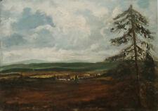 Weite Landschaft; undeutlich signiert: Otto W Leib...