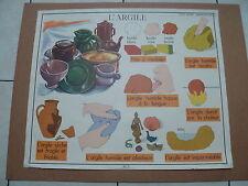 affiche scolaire ecole l'argile  et le plomb rossignol