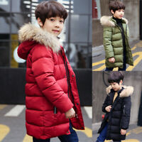 Winter Kids Boys Hooded Warm Quilted Puffer Coat Jacket Trendy Parka Yrs 8-15T