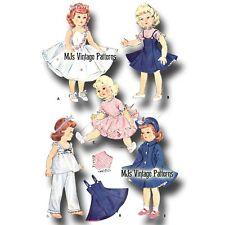 "Vtg Doll Clothes Dress Pattern ~ 16"" 17"" 18"" Sweet Sue, Miss Revlon, Toni"