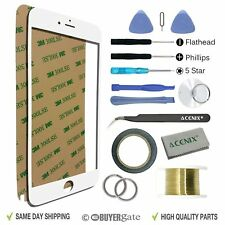 Apple iPhone 7 Plus Replacement Screen Front Glass Repair Kit Tools WHITE