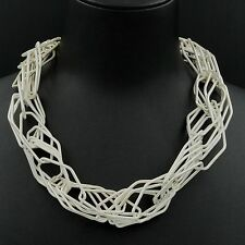 New Fashion Silver Plated Huge Chain Bib Statement Necklace 05012