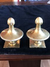 Vintage Brass Finials Furniture Antique Urn Mount Curtain Pole Ends