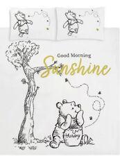 DISNEY WHITE WINNIE THE POOH GOOD MORNING SUNSHINE DUVET SET DOUBLE BNWT