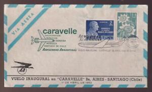 Argentina FFC to Chile, franked with 1960 sc#B27 Flower and 1961 sc#730 Belgrave