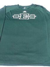 ADIDAS ATHLETIC Climalite Long Sleeve Green Shirt Crew Neck Logo Mens Size XL