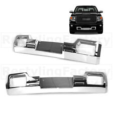 14-15 GMC Sierra 1500 Chrome Front Bumper Tow Hook License Plate Overlay Cover