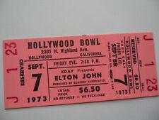 ELTON JOHN Original__UNUSED__1973 CONCERT TICKET - Hollywood Bowl, CA__EX+