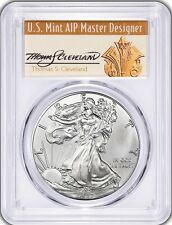 2017 Silver Eagle MS70 PCGS Signed by Designer Thomas Cleveland  FDOI 1 of 1000