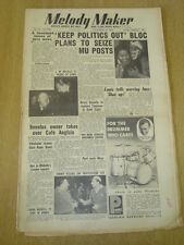MELODY MAKER 1952 NOVEMBER 15 1000TH EDITION CAFE ANGLAIS LOUIS ARMSTRONG JAZZ