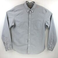 J Crew Mens Long Sleeve Gray Slim Fit Oxford Button Down Size Large
