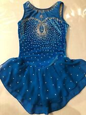 Gk Elite Sports Ice Figure Skating Dress Custom Crystallization Girls Size Large