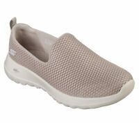 Skechers Shoe Taupe Wide Fit Go Walk Joy Women Sport Casual Slipon Comfort 15600