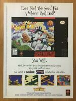 Whizz Super Nintendo SNES 1994 Vintage Poster Ad Art Print Official Promo Rare!