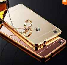 Funda para Huawei P8/Lite/P7/G7/P9/Lite/Plus/P10/Lite/Plus aluminio+tapa espejo