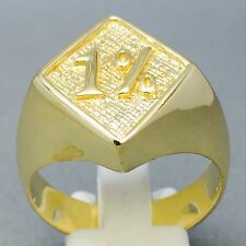 8.4g OUTLAWS HARLEY BIKER 1%er RING  9CT GOLD ON JEWELLERS BRONZE SIZE Z