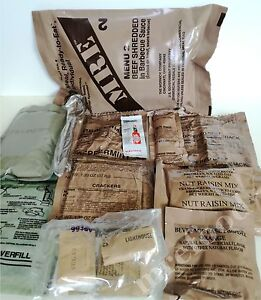 Food Ration MILITARY US ARMY MRE Pack Emergency Set Combat Survival Camping 2022