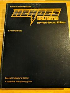 Heroes Unlimited Revised Second Ed. Gold Palladium RPG Collectors Edition New