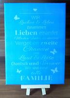 Dekofliese Wandbild Bildfliese Geschenkidee 15 x 20cm Familie Spruch... (042DP)
