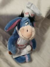 Kiss the cook EEYORE cooking Disney Store retired NEW bean bag beanie