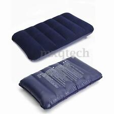 Air Cushion Camping Inflatable Pillow Travel Portable Car Soft Head Rest Flocked