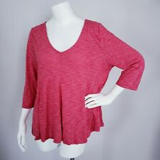 Old Navy Red Shirt Women Size XL 3/4 Sleeves