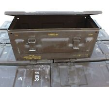 Ammo Box Large Brown British Army 81mm Metal Ammo Mortar Box 59 x 22 x 25 cm