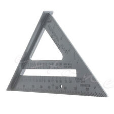 1* Triangle Ruler Metric Aluminum Alloy Speed Square Woodworking Measuring Q6Y6