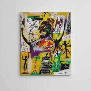 "16X20"" Gallery Art Canvas: Jean-Michel Basquiat SAMO Neo-Expressionist Graffiti"