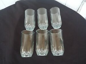 6 vintage cordial   highball glasses akin  cristal d'arques crystal look glass