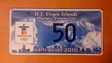 2010 OLYMPIC GAMES CANADA VIRGIN ISLANDS LICENSE PLATE SPORT TAG LOW NUMBER 38 !