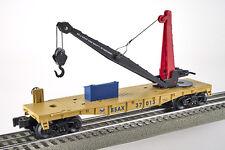 Lot 4169 Lionel BSAX Kranwagen manuell-bedienbar auf Flachwagen (Crane), Spur 0