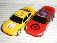Micro Scalextric-Coppia di STOCK CARS (Giallo # 17 & Rosso # 6) - MINT CDN