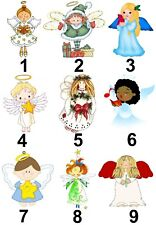 Christmas Angel Small or Large Sticky White Paper Stickers Labels New