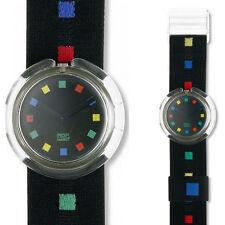 Swatch Kunststoff-Armbanduhren mit Textilgewebe-Armband für Damen