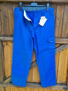 Mens Royal Blue Qyster Workwear Trousers Size 40W 31L