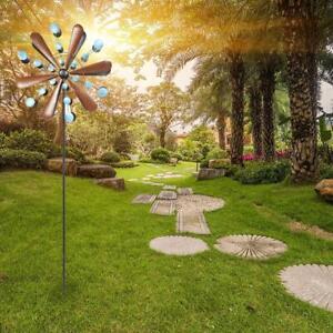 83 Inch Metal Wind Spinners Kinetic Garden Windmill Outdoor Yard Lawn Decor Art
