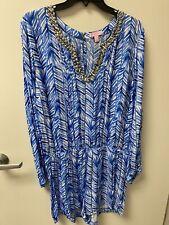 Lily Pulitzer Bowen Skort Romper Dress Gold Chain Xl